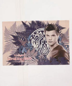 Twilight saga jacob fleece throw taylor lautner features for Twilight jacob tattoo temporary
