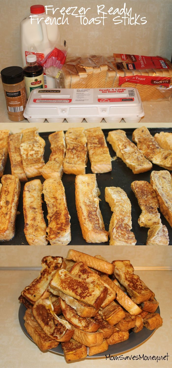 Freezer ready french toast sticks with six ingredients. Whip up a huge batch and freeze extras for a quick breakfast!
