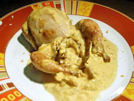 recette de cuisine caille Miel/Moutarde aux petits oignons