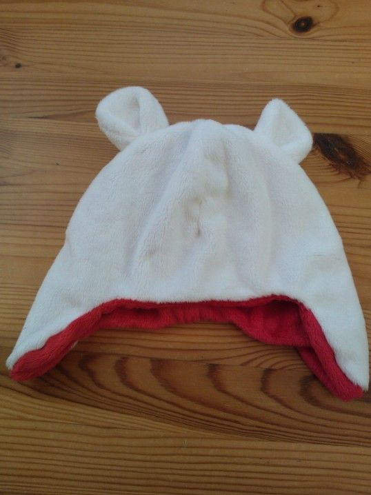 Reversible bear hat handmade with Minky.