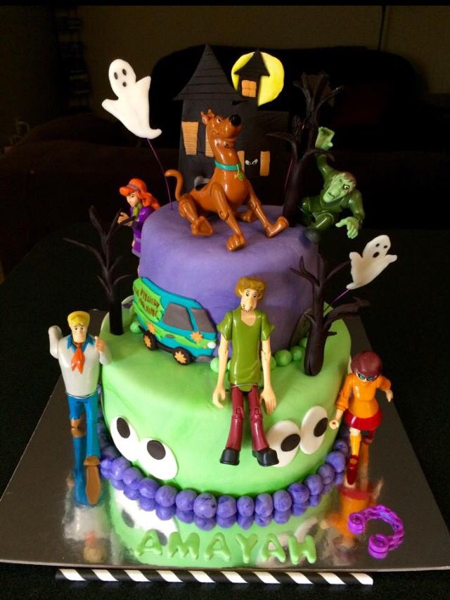 Scooby doo mystery gang birthday cake