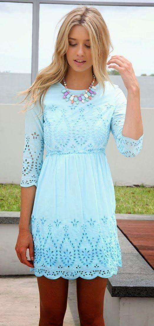 Pastel Blue Dress for Spring
