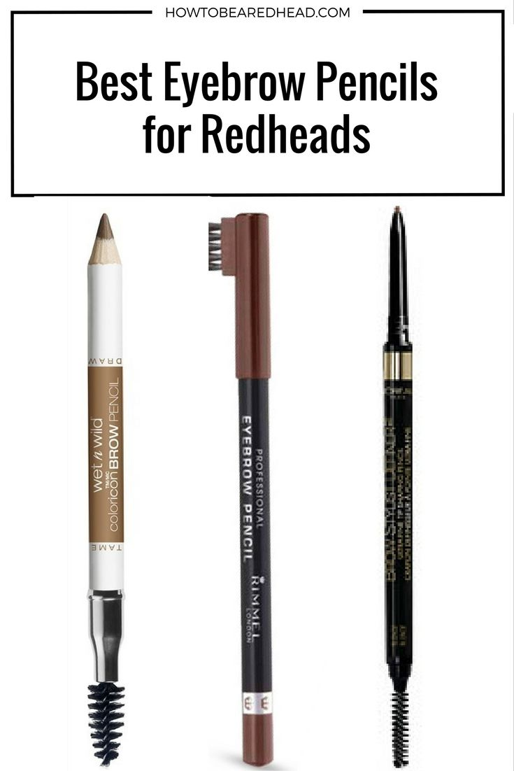 Best #EyebrowPencils for Redheads | How to be a Redhead