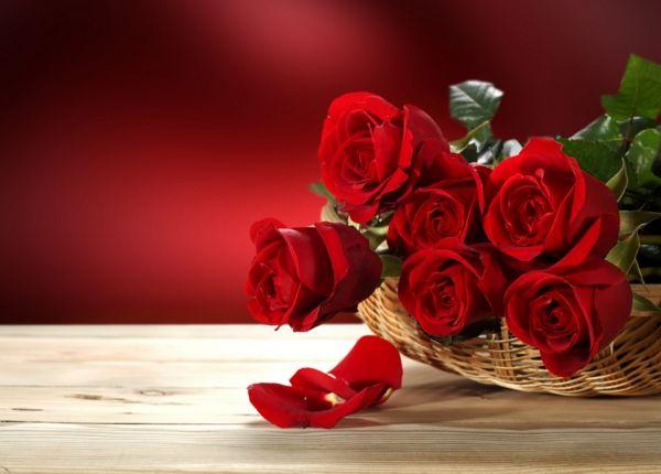 valentinstag blumen verschicken günstig blüten kunstvoll
