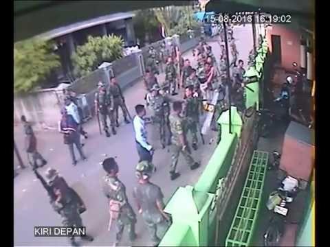 Astaghfirullah, Terekam CCTV Aksi TNI AU Di Medan