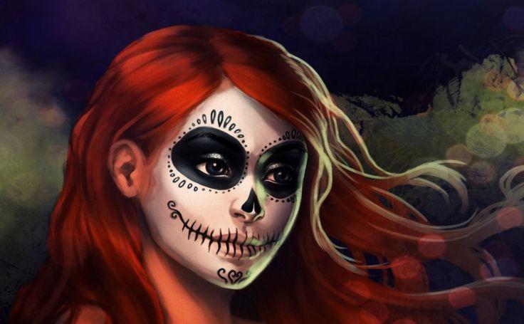 Halloween Face Painting HD Wallpaper
