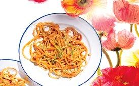Sweet and Spicy Peanut Noodles / Sang An