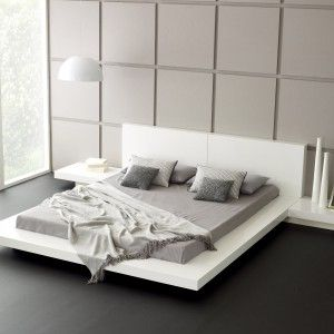wall decor and pendant lighting with platform bed white bed framesqueen - Queen White Bed Frame