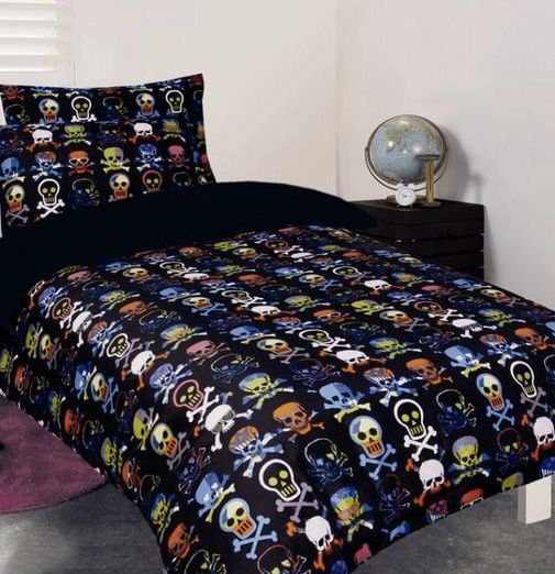 Glow In The Dark Skull Bedding For My Big Boy
