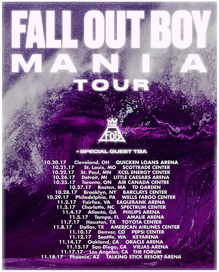 Fall Out Boy - MANIA tour 2017 I'M GOING TO THE FINALE IN PHOENIX