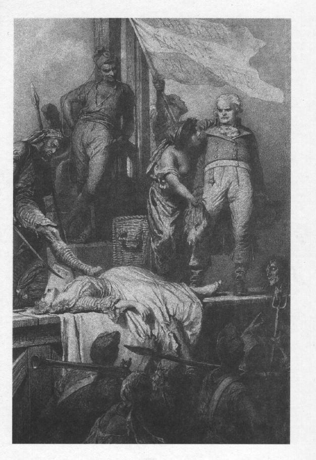 Illusztráció Madách Imre Az ember tragédiája című művéhez: Párizsban (9. szín)  1887