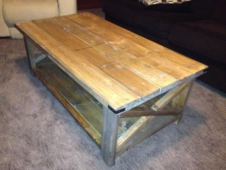 rustic x coffee table do it yourself home projects from ana white coffee table ideas. Black Bedroom Furniture Sets. Home Design Ideas