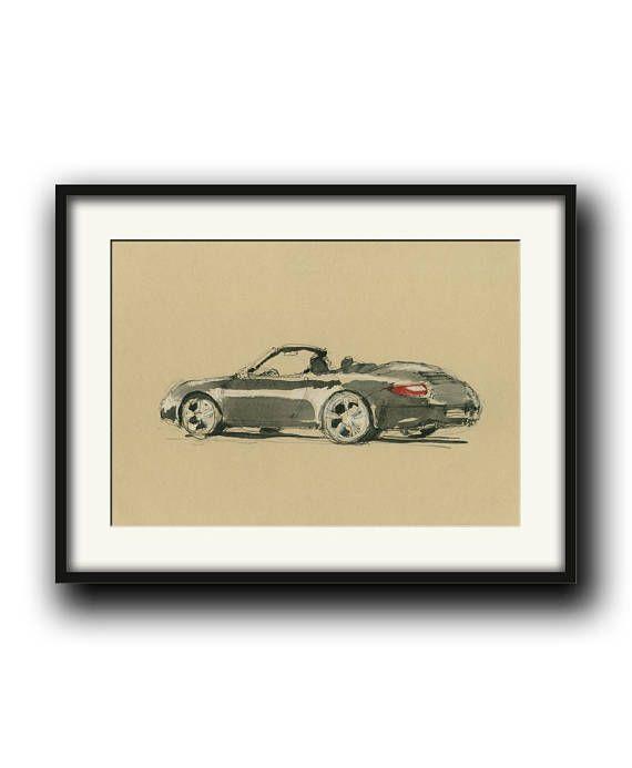 PRINT-Porsche 911 997 cabrio Porsche classic  print
