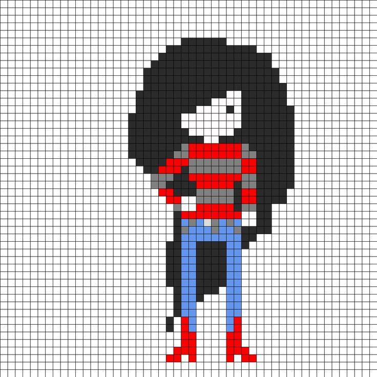 Marceline Adventure Time Perler Bead Pattern | Bead Sprites | Characters Fuse Bead Patterns
