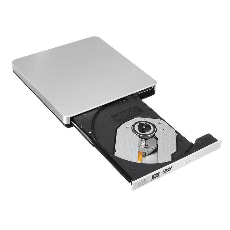 Grabador de DVD de unidad de CD-RW de DVD externo USB 2.0 para computadora de escritorio de PC portátil
