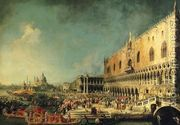 Arrival of the French Ambassador in Venice 1740s  by (Giovanni Antonio Canal) Canaletto