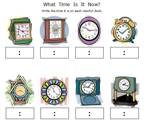 FREE printable Telling Time Worksheets   Kool Skool I-D-uhs ...
