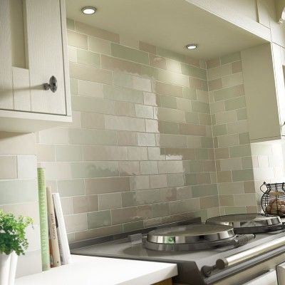 Laura Ashley Brick Wall Tiles -Kitchen or Bathroom, various colours available- Laura Ashley Artisan Eau de Nil Wall 75mm x 150mm – The Cornwall Tile Company