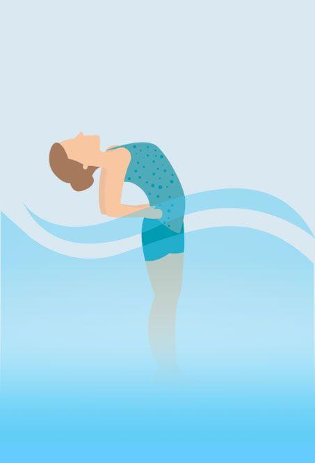 Hot tub Yoga - Half Moon Pose