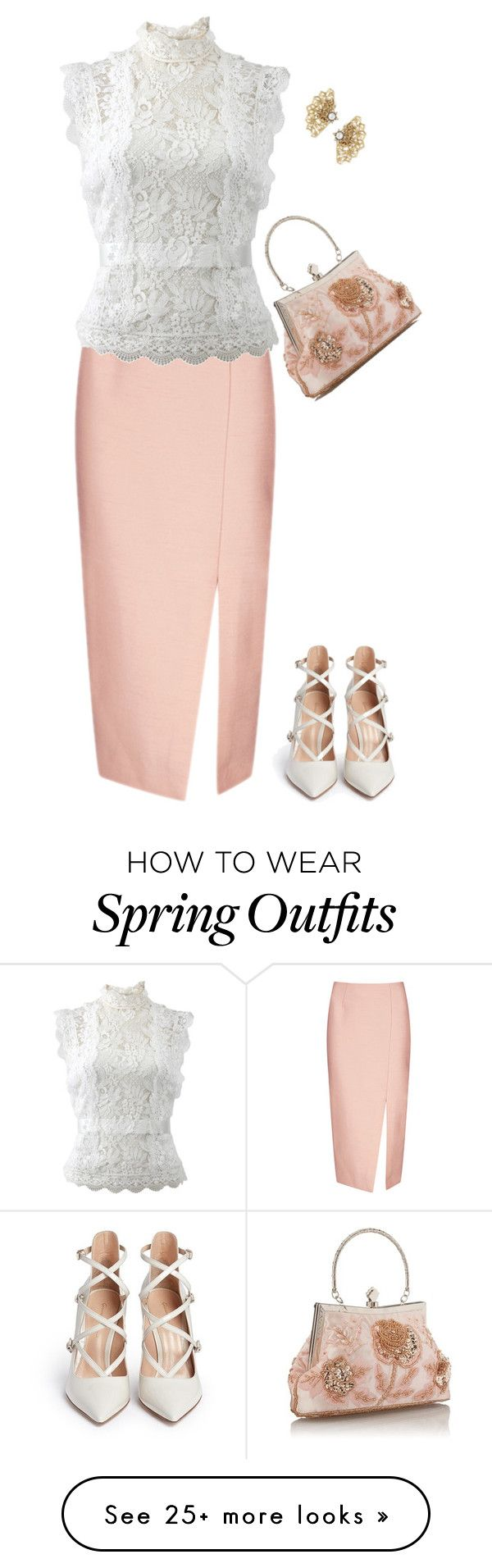 """Easter"" by mk-style on Polyvore featuring C/MEO COLLECTIVE, Oscar de la Renta and Gianvito Rossi"