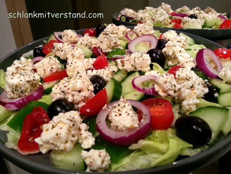 Griechischer Bauernsalat low carb Achtet unbedingt auf gutes Olivenöl. Esmuss kaltgepresst und sortenrein sein und darf keine Zusätze enthalten. Nur dann schmeckt es richtig gut. Zutaten fü…