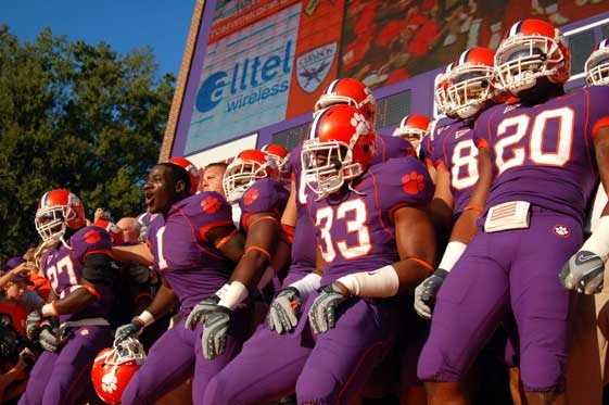 Clemson football.....purple uniforms.....I really like both!