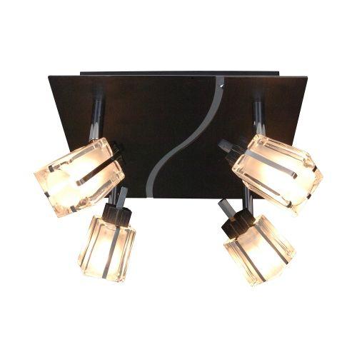 Näve | energie  C, Plafondlamp Laurenz - metaal zwart 4 lichtbronnen, Näve | www.ledlamp.nl