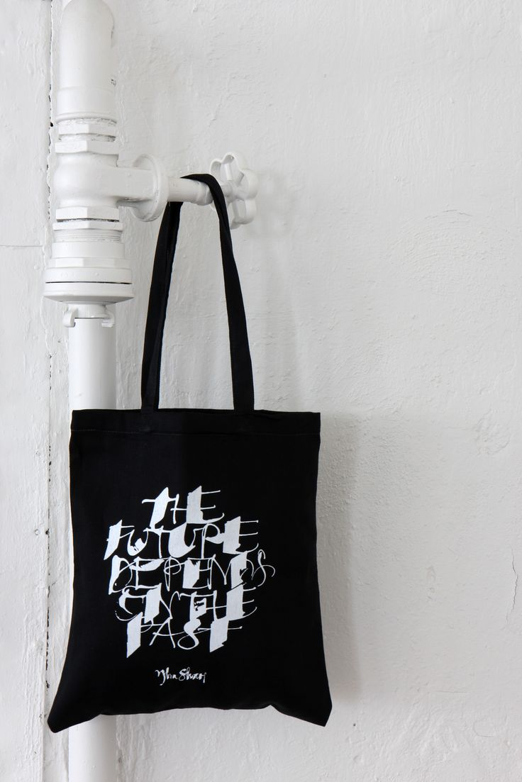 "Tote bag Ylva Skarp ""The future depends on the past"" Photo: Susanne Kings"