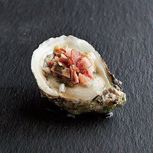 Oysters with Bacon Mignonette Recipe | [site:name] | MyRecipes.com