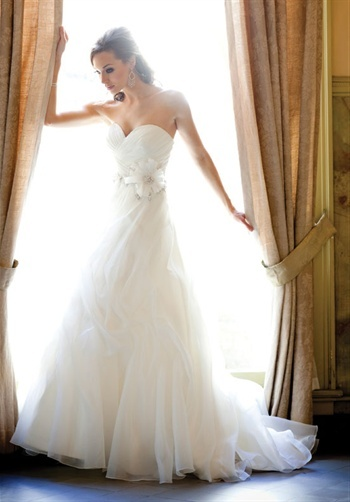 I typically HATE organza, but this dress is stunning.
