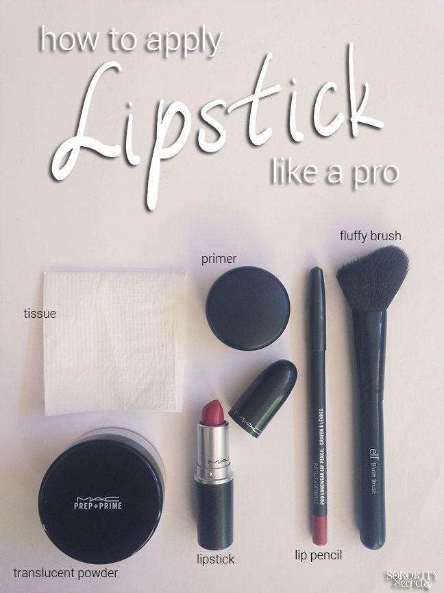 The Sorority Secrets: How to Apply Lipstick Like A Pro