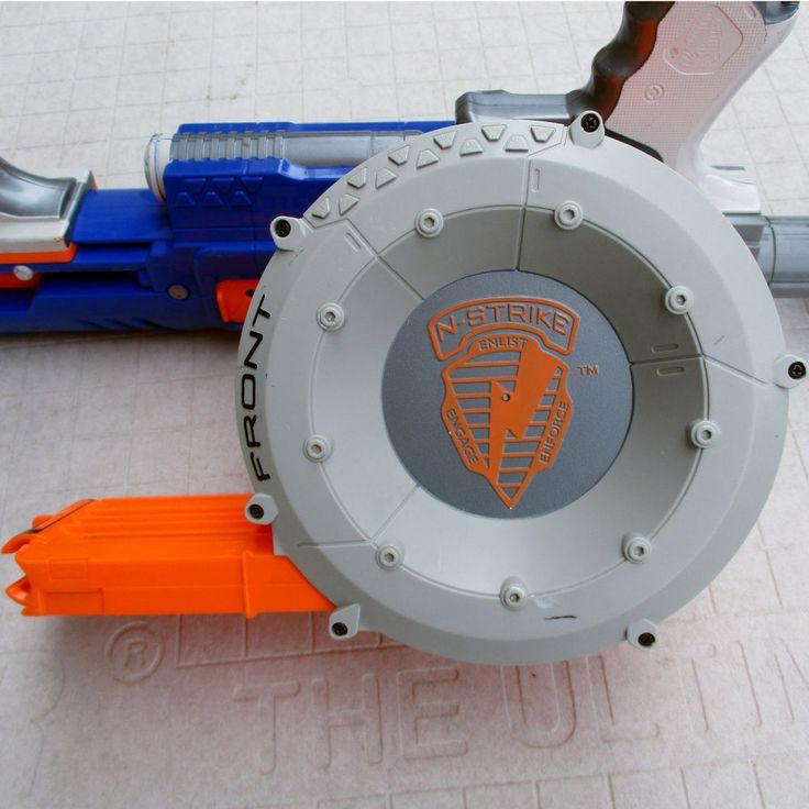 Nerf Raider CS-35 N-Strike Rapid Fire Ammo Drum Stock Dart Blaster Blue Orange #Nerf #NerfRaider #CS-35 #Raider #NerfGun