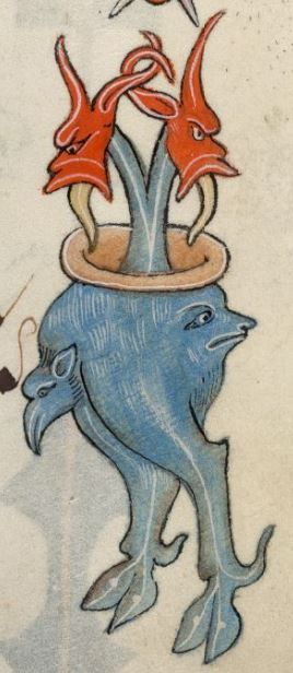 Detail from The Luttrell Psalter, British Library Add MS 42130 (medieval manuscript,1325-1340), f84r