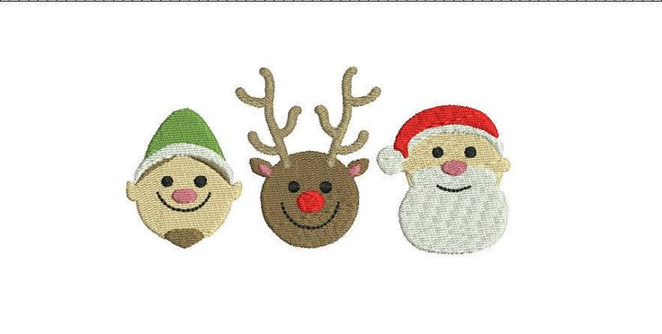 Christmas Elf Reindeer Santa Row Mini Boy Girl Design File for Embroidery Machine   Instant Download Cute Baby by SouthernBabyClassics on Etsy