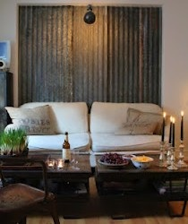 Corrugated iron is a cool and unique idea for a rustic, military-style wall or even headboard.