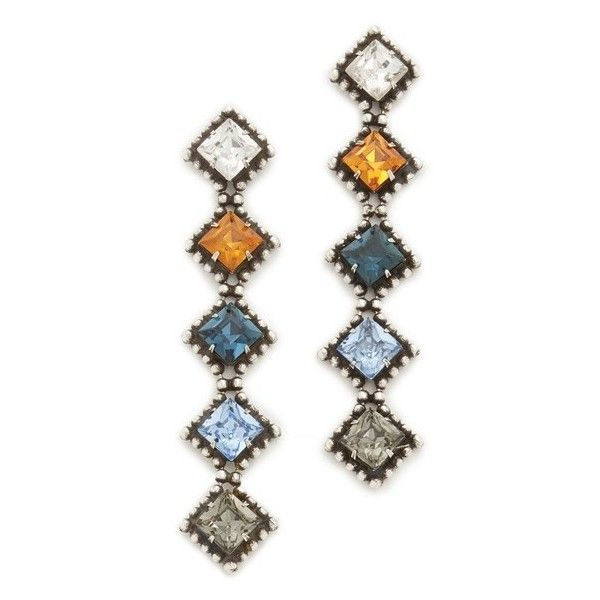 DANNIJO Hydra Earrings (14875 TWD) ❤ liked on Polyvore featuring jewelry, earrings, accessories, beaded earrings, beaded jewelry, long earrings, tri color earrings and multi colored earrings
