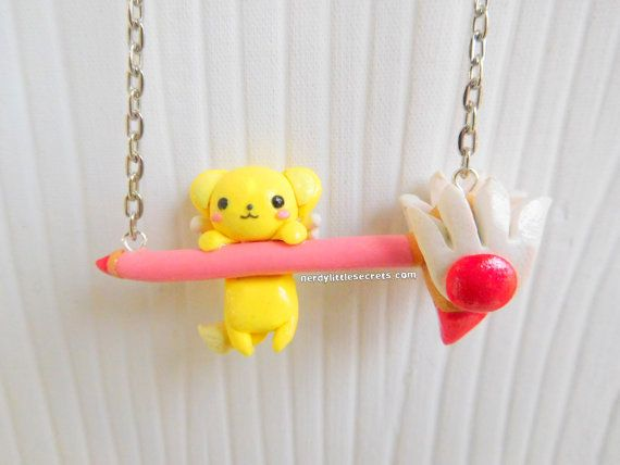 Cardcaptor Sakura Kero Staff Wand Necklace by NerdyLittleSecrets