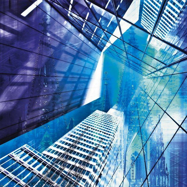 Poster, Leinwandbild »Architektur Gebäude Wolkenkratzer Digitale Kunst«