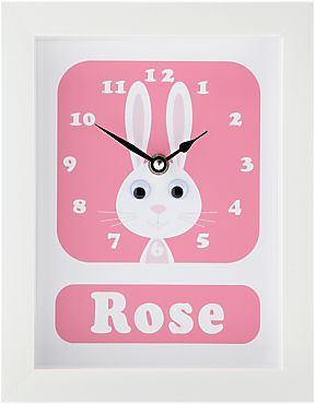 68 best best non chocolate easter gifts for children images on buy pink stripey cats personalised rhonda rabbit framed clock 23 x from our view all clocks range at john lewis negle Choice Image