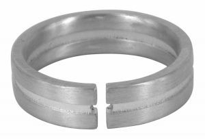 Recessed Centre sterling silver wedding ring - $160