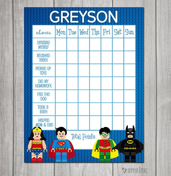 lego superhero themed chore chart reward chart by greyink  visit greyink com for cute