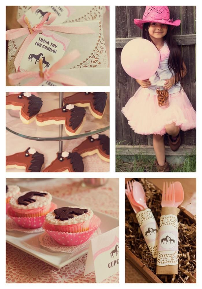 Vintage Pony Party with REALLY CUTE IDEAS via Kara's Party Ideas | Kara'sPartyIdeas.com #horse #party #planning #idea #decorations