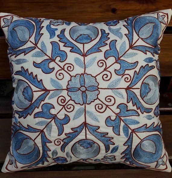 Suzani handmade pillow pillowcasepillow cover by SuzaniUzbekistan
