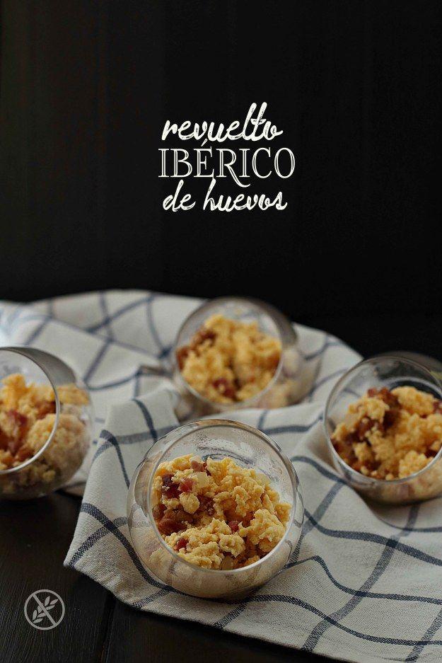 Revuelto ibérico de huevos {by Paula, Con las Zarpas en la Masa}