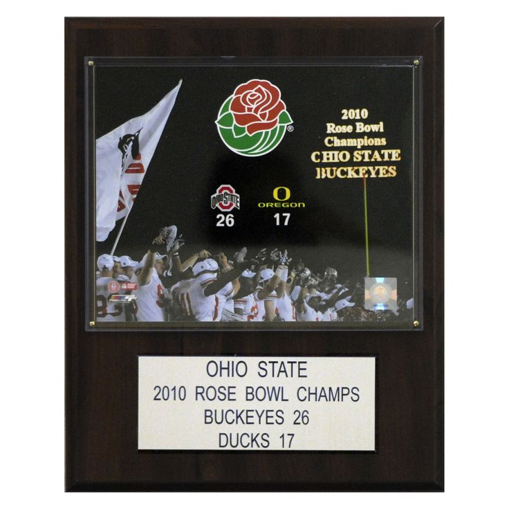 NCAA 12 x 15 in. Football Ohio State 2010 Rose Bowl Champions Plaque - 1215AARB10