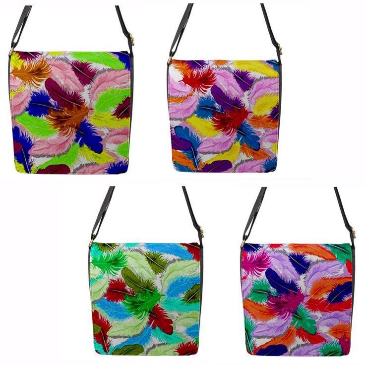 """Feathers"" Chameleon Removable Flap Shoulder Bag (Petite)"
