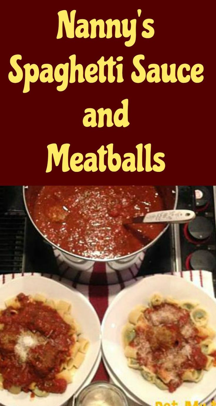 Nanny's Spaghetti Sauce and Meatballs via @lovefoodies