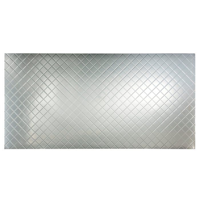 Quilted 48 X 96 Pvc Wall Paneling In Brushed Aluminum Metal Wall Panel Vinyl Wall Panels Pvc Wall Panels