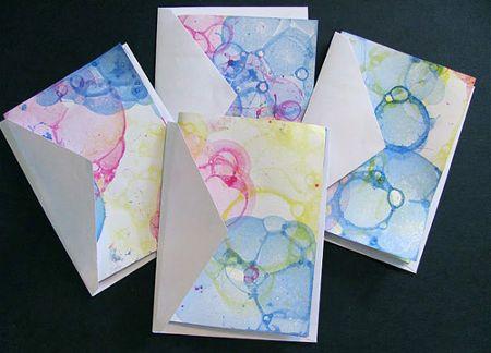colored soap bubbles paper craft