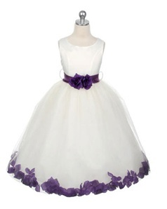 Lilac, Purple Flower Girl Dresses would be prefect with a little black on it